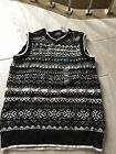 Nwt TCP Children Place Black White Vest Size 10 12 Boy Christmas Holiday