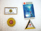 Lot of 4 Red Cross Pins Tomorrow Will Come Kansas Golden Belt West Point