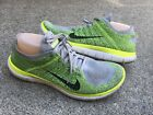 Nike Free Flyknit 40 Mens Size11 Running Electric Green Sneakers Shoes