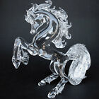 Horse Rearing Large Crystal Hand Blown Glass
