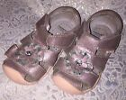 Pediped Emme Shimmering Pink Mary Janes Shoes Sandals Size 7 EU23