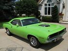 1970 Plymouth Barracuda CUDA 1970 cuda 440 6bbl real shaker car limelight green numbers matching