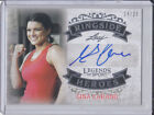 Leaf Legends of Sports Ringside Heroes Auto Gina Carano Silver 24 25