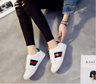 Fashion womens Leather Sneakers Sport Breathable Casual Running Shoes