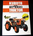 Vintage Kubota Tractor B7100D Dealer Sales Brochure Advertisement Ad Literature