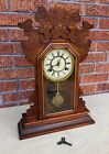 Complete Antique Waterbury Clock NORWALK Almost Running Needs Simple Repair
