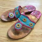LIMITED EDITION Jack Rogers Navajo size 6 sandals turquoise magenta