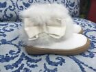Gymboree White Fuzzy Toddler Girl Size 4 Fur Trimmed Bootie Shoes