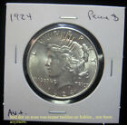 1924 1 Peace Dollar Circulated AU+ 90 silver No Reserve 0917168
