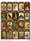 SET OF 20 HALLOWEEN 70 SCRAPBOOK CARD CRAFTS EMBELLISHMENTS HANG GIFT TAGS