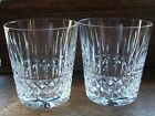 Waterford Irish Crystal Cut Glass Tramore Maeve Old Fashioned Tumbler X2