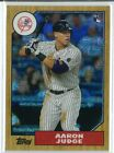 2017 Topps AARON JUDGE Series 1 1987 87 AJ Chrome Rookie Silver Continuity Packs