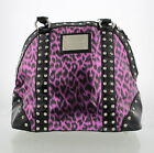 BETSEYVILLE By Betsey Johnson Pink Leopard Print Studded Bag