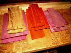 COLORFUL SCRAP LUMBER OF VARIOUS SIZES KILN DRIED THIN EXOTIC  DOMESTIC LUMBER
