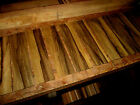 TEN 10 PIECES THIN KILN DRIED SANDED EXOTIC BLACK LIMBA 12 X 3 X 1 4 WOOD