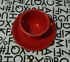 Fiestaware Scarlet Red Cup & Saucer Replacement Set ~ Brand New