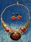 Fashion Jewelry Runway Satement Bright  Bold Necklace with matching Earrings