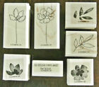 Stampin Up Botanical Blossoms two step flower Rubber Stamp Set