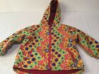 HANNA ANDERSSON BABY GIRLS SIZE 90 3 fall jacket coat floral fleece lining CUTE
