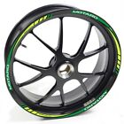 USEN Sticker wheel Rim Benelli BX 570 Motard Green strip tape vinyl adhesive