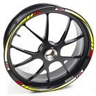 USEN Sticker wheel Rim Derbi Supermotard Racer 50 yellow red strip tape vinyl ad