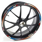 USEN Sticker wheel Rim Derbi Supermotard Racer  50 Red blue and white strip tape
