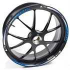 USEN Sticker wheel Rim Derbi Supermotard Racer 50 Blue strip tape vinyl adhesive
