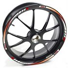 USEN Sticker wheel Rim Derbi Supermotard Racer 50 Red White strip tape vinyl adh