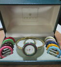 Gucci Women's Watch Gold Tone Model 11/12 - W/ 12 Interchangeable Colored Faces