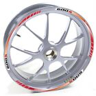 USEN Sticker wheel Rim Honda silver CBF 600 S 600S 600-S Red strip tape vinyl ad