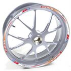 USEN Sticker wheel Rim Honda silver CBF 600 S 600S 600-S White Red and blue stri