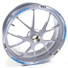 USEN Sticker wheel Rim Derbi silver 50 Senda R Racer Blue strip tape vinyl adhes