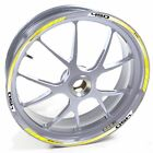 USEN Sticker wheel Rim Gas Gas silver Halley 450 SM 450SM Yellow strip tape viny
