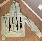 Victorias Secret PINK hoodie Size Large aqua color excellent condition