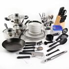 Cookware Set Non Stick 83 Piece Pots and Pans Combo Set Kitchen Cooking Steel