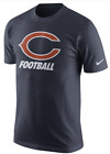 MENS NIKE NFL CHICAGO BEARS FACILITY COTTON T SHIRT 666921 459 SIZE 2XL