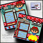 SNOW WHITE princess 2 premade scrapbook pages paper printed CHERRY BFOC 0099