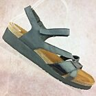 NAOT Israel Black Leather  Patent Strappy Cork Sole Sandals Size 41 US 10 105