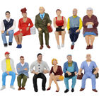 P2509 12pcs G scale Figures 1225 125 All Seated Painted People Model Railway