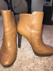 Womens Tan Coach Boot 5 heel with 1 platform size 11