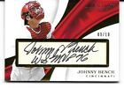 2017 Panini Immcalute Johnny Bench Autograph Card 9 10 WS MVP 76 Script
