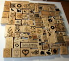 Huge lot of 100+ Stampin up Stamps Christmas Gardening Sentiments Baby Tree