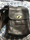 Authentic Mulberry Chocolate Brown Leather Small Messenger Bag Authony