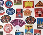 REPRODUCTION HOTEL LUGGAGE LABELS All Different Asst Vinyl Travel Decals NEW