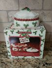 Fitz and Floyd Deck the Halls Holiday Decorative Ceramic Box With IOB