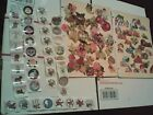 Huge Lot 150 + Vintage Paper SEALS Stickers scrapbooking 1954 1960 more