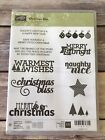 Stampin Up CHRISTMAS BLISS Retired Rubber Stamps Scrapbooking Christmas DIY