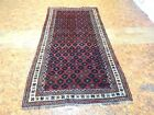 1960`s Mosel Baluch Antique Exquisite Stunning Hand Made Persian Rug