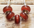 BROWN CATS EYE European Style Beads Glass Charms for Bracelet DIY Christmas Gift