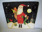 Certified International Square Platter Tray Becca Barton Christmas Santa